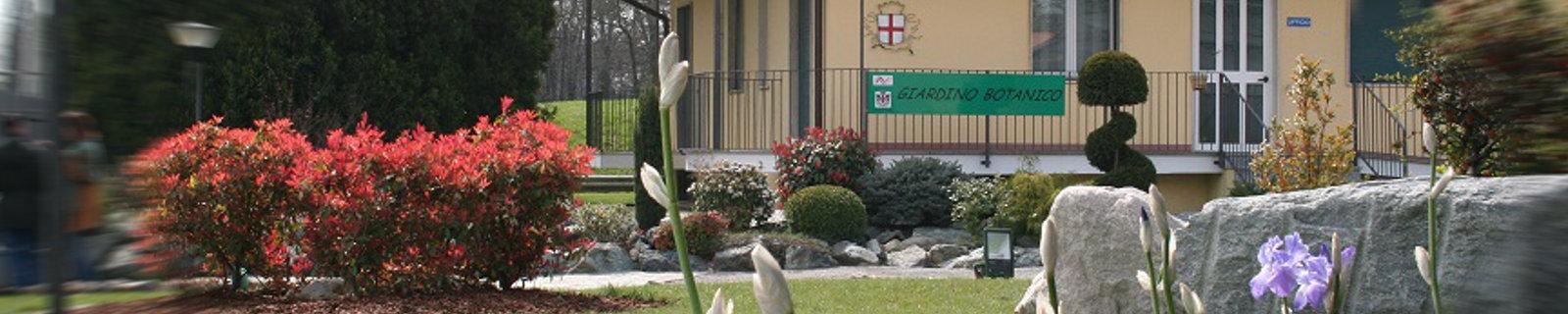 """Immagine di testata: ingresso del Giardino Botanico """"Dina Bellotti"""""""