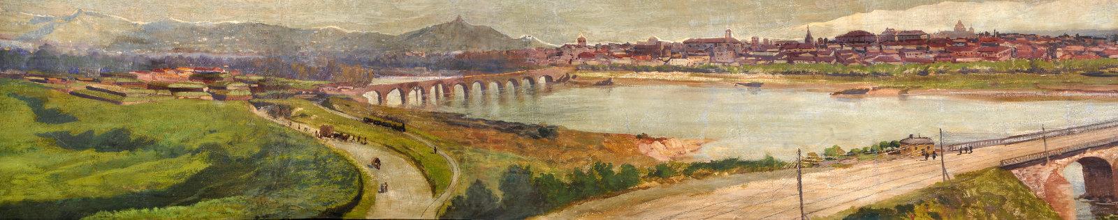 Immagine testata: particolare foto affresco Sassi 1887 - Palazzo Comunale
