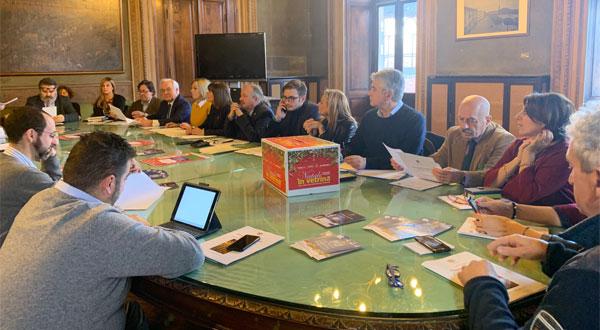Foto conferenza stampa presentazione eventi natalizi