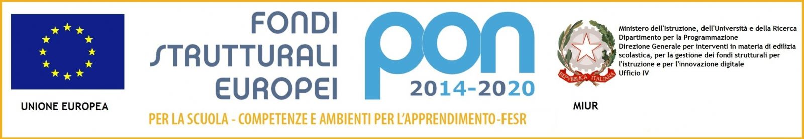 Logo Fondi Strutturali Europei Pon