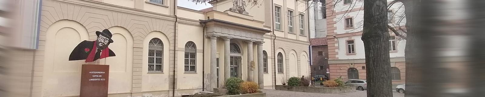Foto facciata della Biblioteca Civica di Alessandria