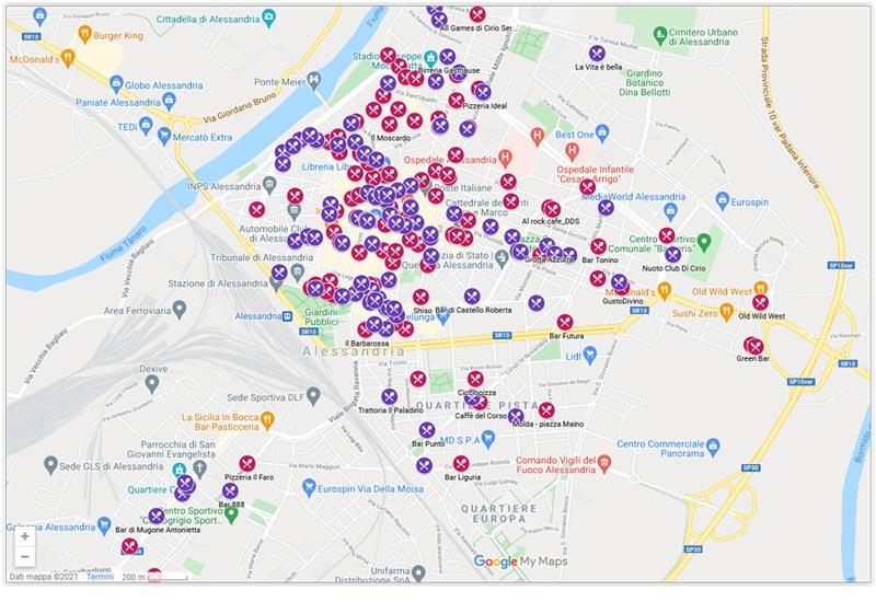 Immagine stralcio mappa dehors 2021 Alessandria