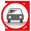 icona rossa auto privata