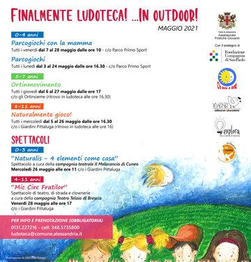 Locandina Programma MAGGIO Ludoteca Outdoor