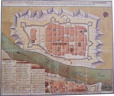 Pianta storica Bergolio (ASAL - ASCAL)